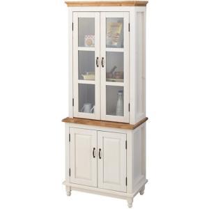 カップボード 食器棚/木製 シルキー/レトロモダン/W68 H175|lucentmart-interior