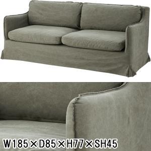 ソファー ソファ/三人掛け/アンティーク調 サーブル/W185 D85 H77/2色 lucentmart-interior