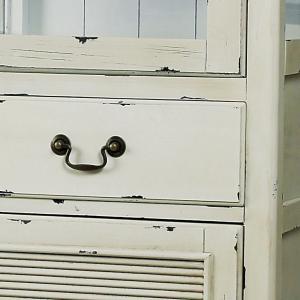 スリム キャビネット/食器棚/フレンチアンティーク/エイジング加工/W56×D39×H185|lucentmart-interior|07
