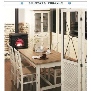 スリム キャビネット/食器棚/フレンチアンティーク/エイジング加工/W56×D39×H185|lucentmart-interior|09