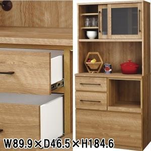 カップボード 食器棚/日本製/W89.9 D46.5 H184.65|lucentmart-interior