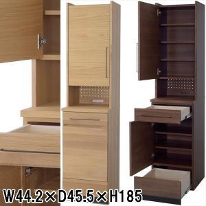 カップボード 食器棚/日本製 木製/W44.2 D45.5 H185/2カラー|lucentmart-interior