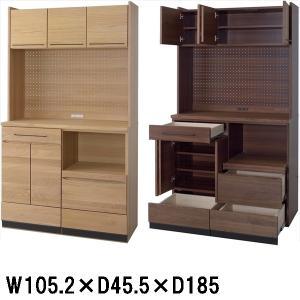 カップボード 食器棚/日本製 木製/W105.2 D45.5 H185/2カラー|lucentmart-interior