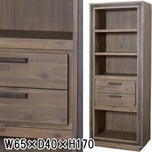 サイドボード チェスト キャビネット/天然木/W65×D40×H170|lucentmart-interior