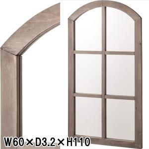 姿見 鏡 ミラー/ウォールミラー 窓形/天然木/W60 D3.2 H110|lucentmart-interior