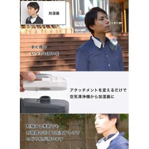 パーソナル加湿&空気清浄機「エアクリーンネックバンド」 WEAIPF02 日本語マニュアル付き サンコーレアモノショップ|lucia0322