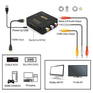 HDMI to RCA 変換コンバーター GANA HDMI to AV コンポジット HDMIからアナログに変換アダプタ 1080P 音声|lucia0322