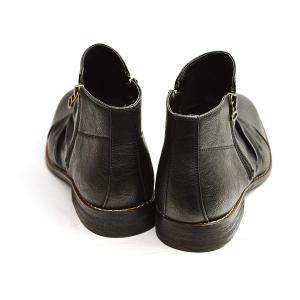 (ジーノ) ZEENO ドレープ ショートブーツ エンジニアブーツ メンズ ブーツ サイドジッパー ...