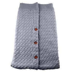 oenbopo ベビーおくるみ ニットとウール製 寒さ対応 ベビーカーに ベビー寝袋 肌触りいい 出産祝い 記念撮影 ギフトにも大人気 (グ lucia0322