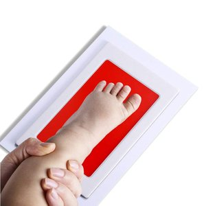 PChero 赤ちゃん 手形 足形キット インクタッチなし ベビーフレーム記念品 手足型 出産祝い 男女通用 新生児 写真立て 3枚インクパ lucia0322