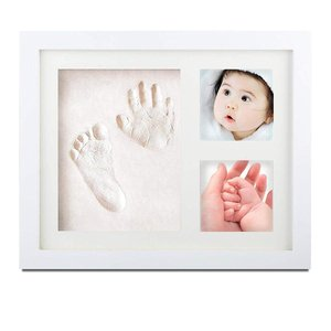 SEPOVEDA手形赤ちゃん 足型 赤ちゃんべびーフレーム記念品、フォトフレーム 置き掛け兼用、 無毒で安全粘土、出産祝い 内祝い ベビー記 lucia0322