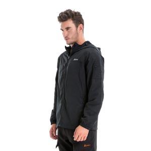 Clothin(クロズイン) ウィンドブレーカー 登山ジャケット ライダー ブルゾン 撥水 防風 防寒 アウター メンズ-4XL-ブラック|lucia0322