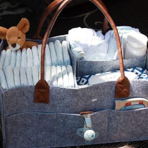 大容量 マザーズバッグ おむつストッカー 多機能軽量ママバッグ ベビー用品収納バッグ おむつ収納バッグ 折り畳み式 子供のおもちゃ フェルト|lucia0322