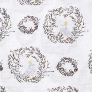エイデンアンドアネイ おくるみ ブランケット 4セット ギフト 出産祝い ロイヤルベビー swaddle wrap (カラー:birdson|lucia0322