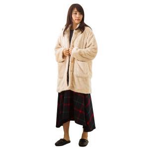 東京西川 あったかガウン(着る毛布) ベージュ M~Lサイズ ふわとろ毛布素材 ガウン SEVENDAYS セブンデイズ FQ9839559 lucia0322