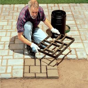 格子 コンクリート 用 型枠 ガーデニング モールド 遊歩道 DIY 舗装 プラスチック製 庭石 石畳 レンガ 単品(60 * 50 * 5 lucia0322