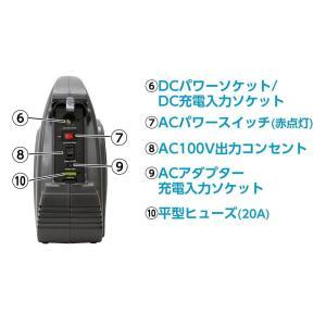 メルテック ポータブルバッテリー 5WAYシステム電源 AC100V1口120W DC12V1口12...