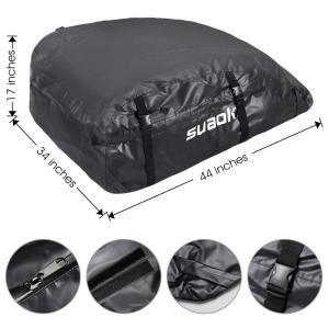 suaoki カーゴバッグ 1000D高密度防水 600D防水カバー付き ルーフキャリアバッグ 大容量425L 110×86×43cm 折り|lucia0322