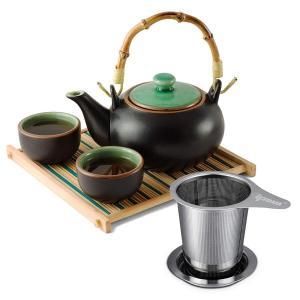 IPOW 茶漉し ティーストレーナー ステンレス製深型 マグ、カップ、ポット用 取っ手と蓋付き