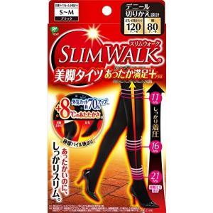 スリムウォーク 美脚タイツあったか満足プラス S-Mサイズ ブラック(SLIMWALK, compression Tights with w|lucia0322