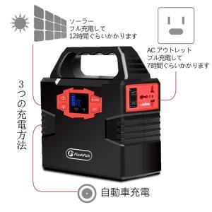 FlashFish ポータブル電源 小型発電機 DC AC USB 7WAY出力 40800mAh ...