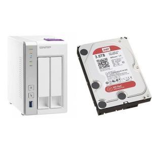 セット買い:NASキット+WD Red HDD 3TB 1台QNAP(キューナップ) TS-231P...