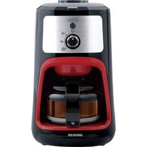 アイリスオーヤマ コーヒーメーカー 全自動 メッシュフィルター付き 1~4杯用 ブラック IAC-A600|lucia0322