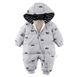 Baby nest ベビー服 男の子 ロンパース 長袖カバーオール ダウンコート ジャンプスーツ 保...