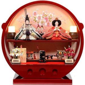 雛人形 アクリルケース 丸型 柳サイズ 親王飾り ひな人形 No.306-122|lucia0322