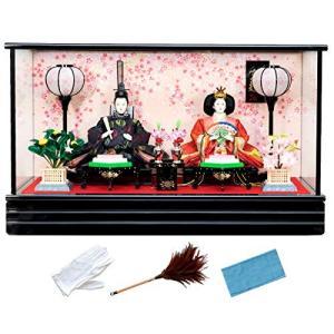 キョウエツ 雛人形 ケース飾り 親王飾り オルゴール付 B舞桜 SZ-2|lucia0322