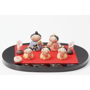 雛人形 コンパクト 陶器 小さい 可愛い ひな人形/人形師の手造り雛人形 濱田ひろこ作 ミニ雛飾り/ミニチュア 初節句 お雛様 おひな様 雛|lucia0322