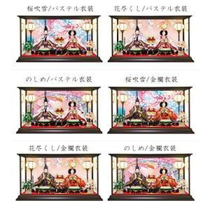 雛人形 ひな人形 コンパクトピンク親王ケース飾り 2017 (Sサイズ, 桜吹雪/金襴衣装)|lucia0322