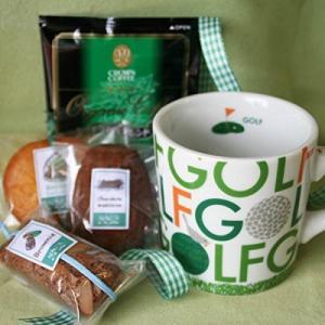 スポーツマグカフェセット (コーヒーとチョコの焼き菓子とマグカップのギフト) マグの柄:ゴルフ