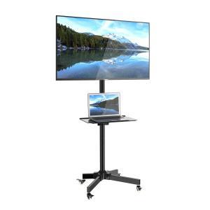 1homefurnit テレビ台 液晶TVスタンド 壁寄せ ディスプレイスタンド 23-55インチ対応 ハイタイプ キャスター付き 移動式 lucia0322