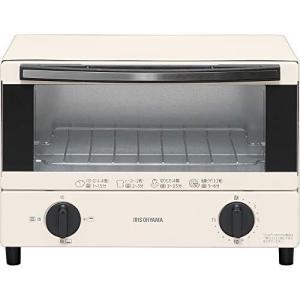 アイリスオーヤマ オーブントースター トースト2枚 温度調節機能 トレー付 ホワイト EOT-012-W|lucia0322