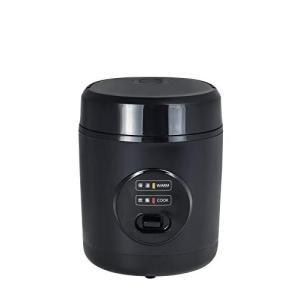 山善 炊飯器 0.5?1.5合 小型 ミニ ライスクッカー ブラック YJE-M150(B)|lucia0322