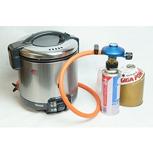 どこでもご飯リンナイこがまるキャンピング用 ガス炊飯器 セット 1升炊き(図解解説書付) (OD缶 T型ボンベ用) lucia0322