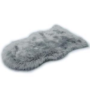 HLZDHKJ フェイクシープスキンラグ ムートンマット 洗える 人工ウールマット 長毛 ふんわり 柔らか滑り止め付き高級感あるソファシート lucia0322