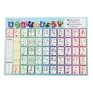 ひらがな お風呂 ポスター A3サイズ (420×297mm)日本製 防水 知育玩具 A3 ポスター 学習ポスター|lucia0322