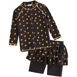 Vaenait Baby 2-7歳UVカット ラッシュガードベビー子供男の子長袖上下セット水着 Cute Star S lucia0322