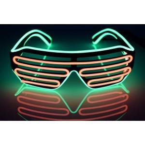 光る LED メガネ マルチカラー コスプレ仮装 カラオケやパーティやイベントに適用 光るアイテム衣...