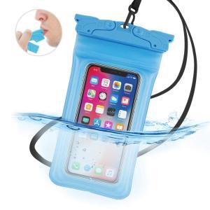 防水ケース スマホ用 IPX8認定 高感度&口笛 携帯防水ケース iPhone X/Xs/XR/8/...