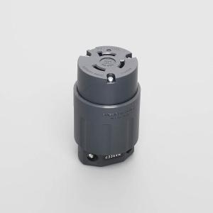 アメリカン電機 コードコネクタボディ (ナイロンカバー) 引掛形 黒色 3364N|lucia0322