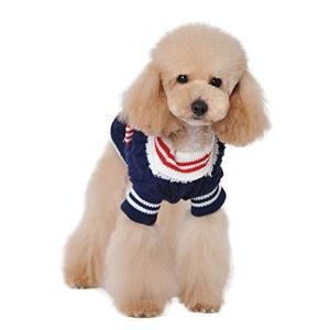 ペット服 ペット用品 かわいい セーター 犬 小型犬 中型犬 紅 藍 リボン 付き 秋 冬 暖かい 室内 お出かけ お散歩 毛糸のニット|lucia0322