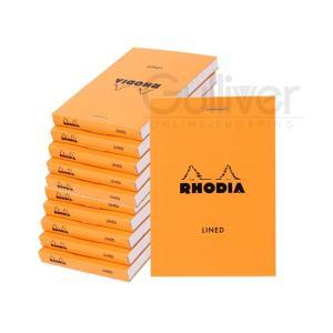 Rhodia ロディア・ブロック(ブロックロディア) メモ帳/ブロックメモ【横罫タイプ】No.11 80枚(10冊セット) A7サイズ オレンジ/ブラック|lucida-gulliver|03