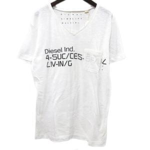 DIESELディーゼル T-FIRANG-RS T-SHIRT XS ホワイト【中古】 lucio