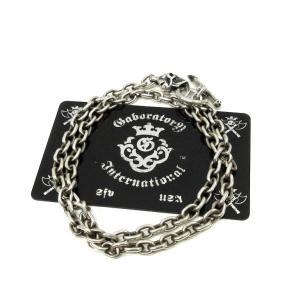 ガボラトリーGaboratory Tバースカルネックレスチェーン6chain with 1/8 skull & 1/8 T-bar Necklace【中古】|lucio