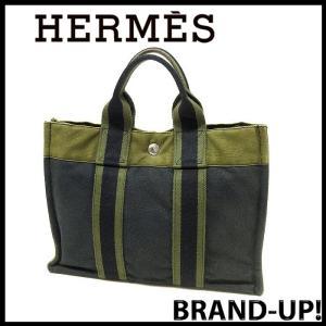 エルメス HERMES バッグ トートバッグ フールトゥ メンズ レディース PM ネイビーxカーキ【中古】|lucio