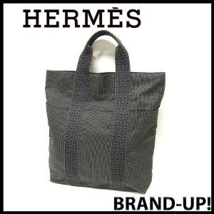 HERMES エルメス バッグ トートバッグ メンズ レディース エールライン カバス グレー 中古|lucio