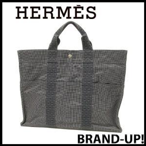 エルメス HERMES エールライン トートバッグ MM ブラック 中古 美品|lucio
